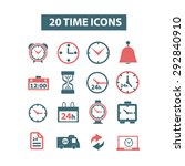 time and clock isolated vector...