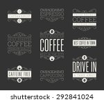 typographic coffee retro themed ... | Shutterstock .eps vector #292841024