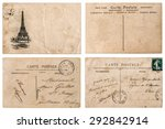 antique french postcard  with