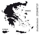 greece map vector | Shutterstock .eps vector #292848719