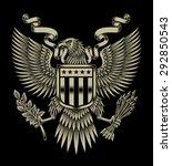 Stock vector american eagle emblem 292850543