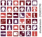 vector set of wear icons | Shutterstock .eps vector #292855790