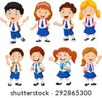 illustration of school children ... | Shutterstock .eps vector #292865300