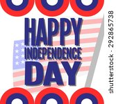 usa independence composition | Shutterstock .eps vector #292865738
