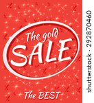 sale poster with percent... | Shutterstock .eps vector #292870460