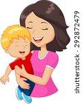 Cartoon Happy Family Mother...