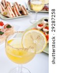 banquet table with drinks ... | Shutterstock . vector #29287258