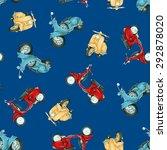 pattern motorcycle | Shutterstock . vector #292878020