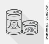 Pet Cat Food Can Flat Icon Wit...