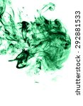 abstract green smoke on white... | Shutterstock . vector #292881533