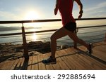 young fitness woman legs... | Shutterstock . vector #292885694