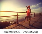 young fitness woman legs... | Shutterstock . vector #292885700
