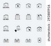 real estate line icon | Shutterstock .eps vector #292885916