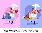 two funny  illustration of ... | Shutterstock .eps vector #292894970