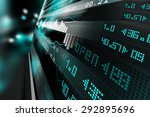 data analyzing in stock market | Shutterstock . vector #292895696