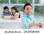 portrait of vietnamese primary... | Shutterstock . vector #292908989