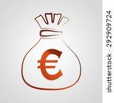 euro icon illustration | Shutterstock . vector #292909724