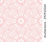 flower vector seamless pattern. ... | Shutterstock .eps vector #292910264