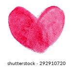 Heart Of Fingerprints On White...