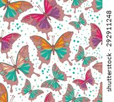 seamless pattern with colorful... | Shutterstock .eps vector #292911248
