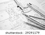 drawing and various tools | Shutterstock . vector #29291179