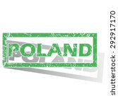 green stamp with name poland... | Shutterstock .eps vector #292917170