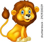 Stock vector cartoon lion sitting 292920029