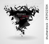 abstract black triangle banner... | Shutterstock .eps vector #292922504