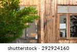 window frame on wooden house in ... | Shutterstock . vector #292924160