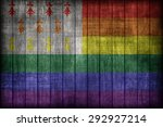 Small photo of Homo Atao flag pattern on wooden board texture ,retro vintage style