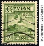 ceylon   circa 1957  a stamp... | Shutterstock . vector #292928594