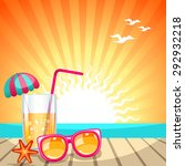 summer holiday background with... | Shutterstock .eps vector #292932218