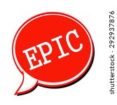 epic white stamp text on red... | Shutterstock . vector #292937876