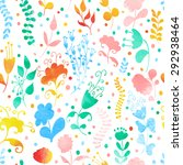 seamless pattern with... | Shutterstock .eps vector #292938464