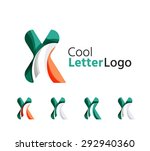 set of abstract x letter... | Shutterstock .eps vector #292940360