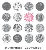 hand drawn circles ink textures ... | Shutterstock .eps vector #292943519
