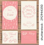 floral vector card templates.... | Shutterstock .eps vector #292944350