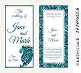 set of wedding invitations.... | Shutterstock .eps vector #292948058
