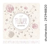 meadow flowers greeting card... | Shutterstock .eps vector #292948820