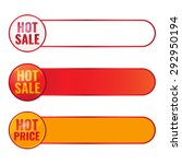 set of hot sale banners. hot... | Shutterstock .eps vector #292950194