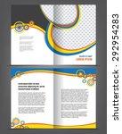 vector empty bi fold brochure... | Shutterstock .eps vector #292954283