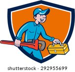 illustration of a plumber in... | Shutterstock .eps vector #292955699