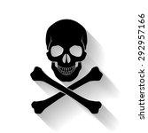 raster version. black skull and ... | Shutterstock . vector #292957166