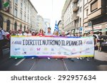 milan  italy   june 27  gay... | Shutterstock . vector #292957634