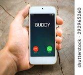 smartphone incoming calls on... | Shutterstock . vector #292965260