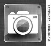 glass photo camera icon on a...