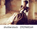 art fashion. beautiful young... | Shutterstock . vector #292968164
