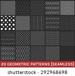 monochrome geometric ornaments. ... | Shutterstock .eps vector #292968698