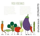 fresh vegetables vector concept ... | Shutterstock .eps vector #292969970