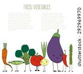 fresh vegetables vector concept ... | Shutterstock .eps vector #292969970